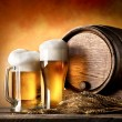 Beer and barrel — Stock Photo #69112445