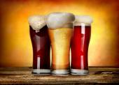 Three sorts of beer — Stock Photo