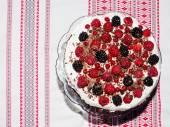 Berries tart cake — Stock Photo