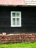 Window on wooden house — Stock Photo