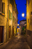 's avonds straten van san marino — Stockfoto