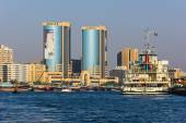 High rise buildings and streets in Dubai — Photo