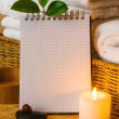 Spa with towels and candle — Stock Photo #58059207