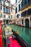 Gondola at canal in Venice — Stock fotografie