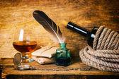 şarap ip ile sarılmış — Stok fotoğraf
