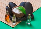 Zátiší předměty relaxační lázně — Stock fotografie