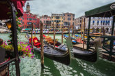 Gondolas at canal — Fotografia Stock