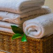 Spa with towels and candle — Stock Photo #65072611