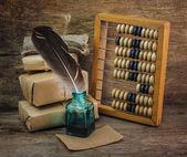 Warehouse with abacus — Zdjęcie stockowe