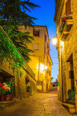 Evening streets of San Marino — Stock Photo