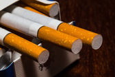 Closeup shot of pack of cigarettes — Stock Photo