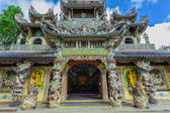 Linh Phuoc pagoda, Vietnam. — Stock Photo