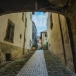 Italian street in town of Tuscan — Stock Photo #67615853