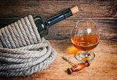 Şişe şarap halat boyu — Stok fotoğraf