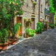 Italian street in provincial town of Tuscan — Stock Photo #70387083
