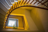 Upside view of spiral staircase — Stock Photo