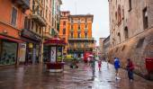 General view of downtown Bologna streets — Стоковое фото