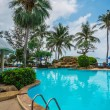 Pool and palms in Thailand — Stock Photo #71406353