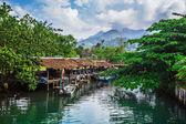 Fishing village on the island in Southeast Asia. — Fotografia Stock