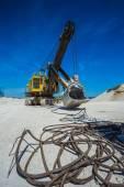Career excavator for mining of limestone — Stock Photo