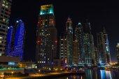 Nightlife in Dubai Marina — Stock Photo