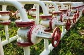 Oil pumps background — Stock Photo