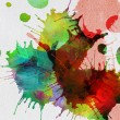Paint splashes and blots on canvas — Stock Photo #55363587