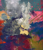 Abstract oil painting on canvas — Stockfoto