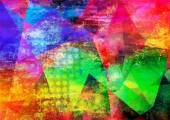 Abstract multicolor layer artwork — Stock Photo