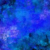 Abstract blue textures on canvas — Stock Photo
