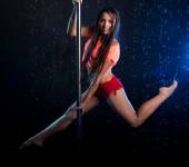 Young sexy woman . Water studio — 图库照片