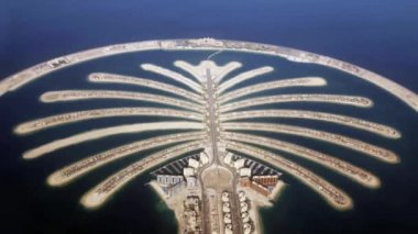Jumeirah Palm Island Development In Dubai — Stock Video