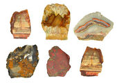 Collection of mountain minerals. Isolated. — Stock Photo