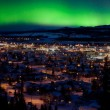 Northern Lights over Downtown Whitehorse — Stock Photo #71741245