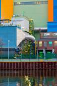 Waste-to-energy plant detail Oberhausen Germany — Stock Photo