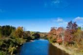 Pictou East River fall landscape Nova Scotia NS Canada — Stock Photo
