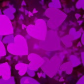 Abstract hearts valentine purple background — Stock Photo