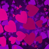Abstract hearts valentine day background — Stock Photo