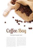 Coffee bag and scoop  — Stok fotoğraf