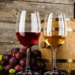 Two glasses of wine — Stock Photo #53479025