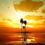 Tropical sunset — Stock Photo #55718391