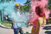 Holi people — Stock Photo