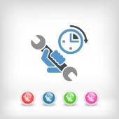Assistance time icon — Stock Vector