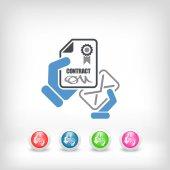 Contract icon — Stock Vector