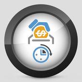 Money time icon — Vettoriale Stock