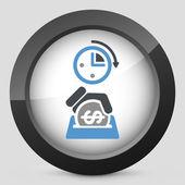 Money time icon — Stockvektor
