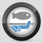 Balık simgesi — Stok Vektör