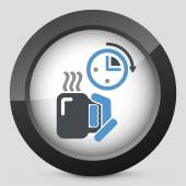 Coffee time icon — Vettoriale Stock