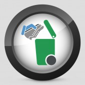 Separate waste collection icon — Vetorial Stock