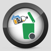 Separate waste collection icon — Stock Vector